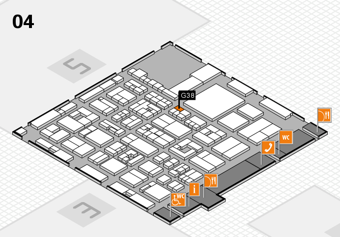 REHACARE 2016 hall map (Hall 4): stand G38