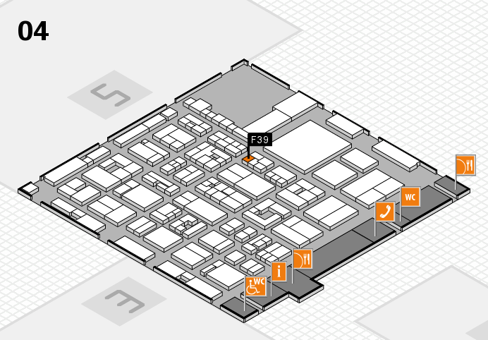 REHACARE 2016 hall map (Hall 4): stand F39