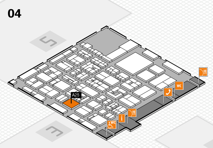 REHACARE 2016 hall map (Hall 4): stand A25