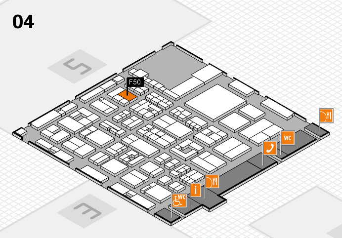 REHACARE 2016 hall map (Hall 4): stand F50