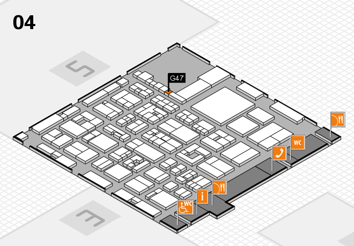 REHACARE 2016 hall map (Hall 4): stand G47
