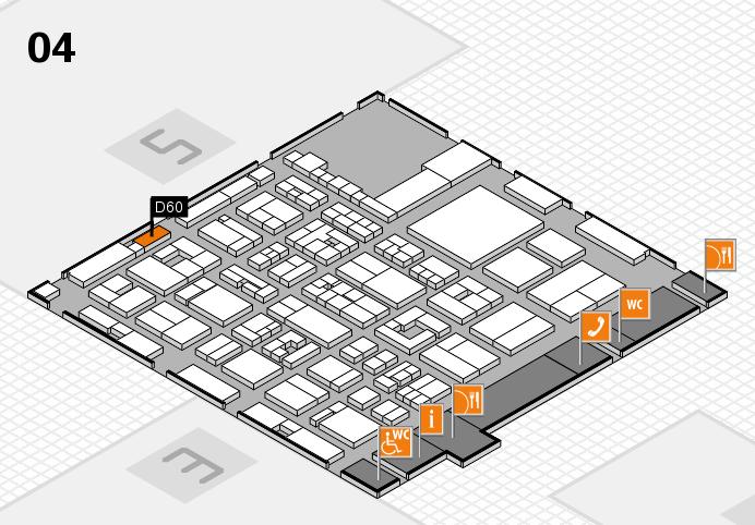 REHACARE 2016 Hallenplan (Halle 4): Stand D60