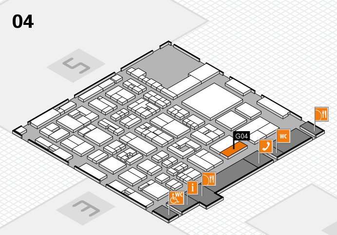REHACARE 2016 hall map (Hall 4): stand G04