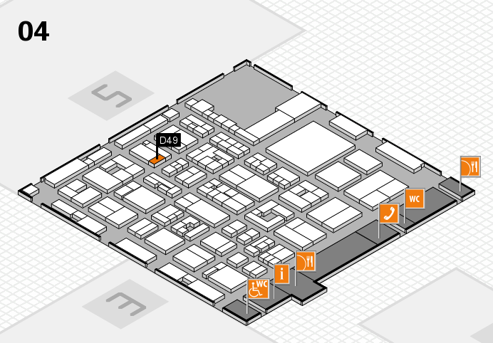 REHACARE 2016 hall map (Hall 4): stand D49