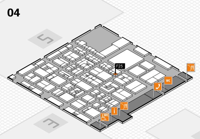 REHACARE 2016 hall map (Hall 4): stand F25
