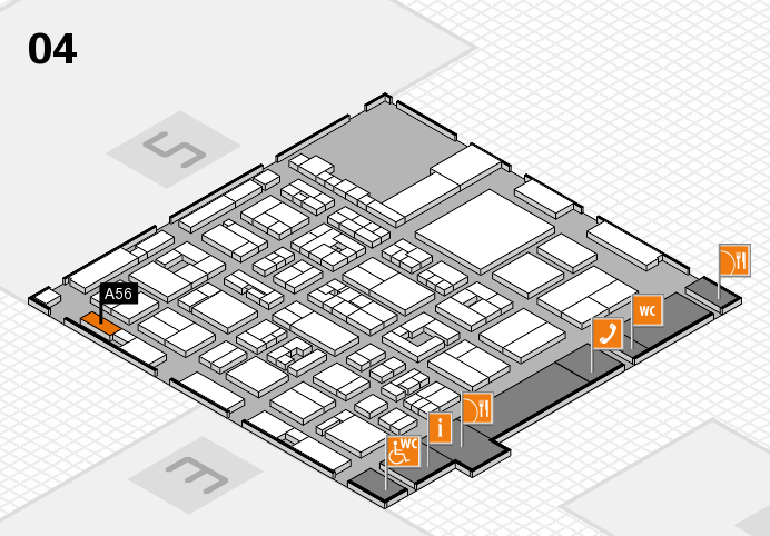 REHACARE 2016 hall map (Hall 4): stand A56