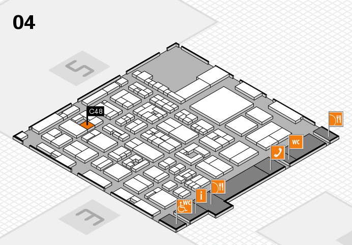 REHACARE 2016 hall map (Hall 4): stand C48
