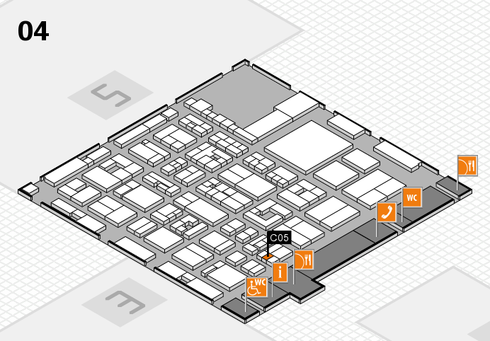 REHACARE 2016 hall map (Hall 4): stand C05
