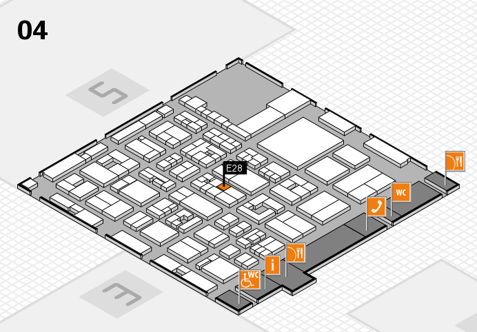 REHACARE 2016 hall map (Hall 4): stand E28