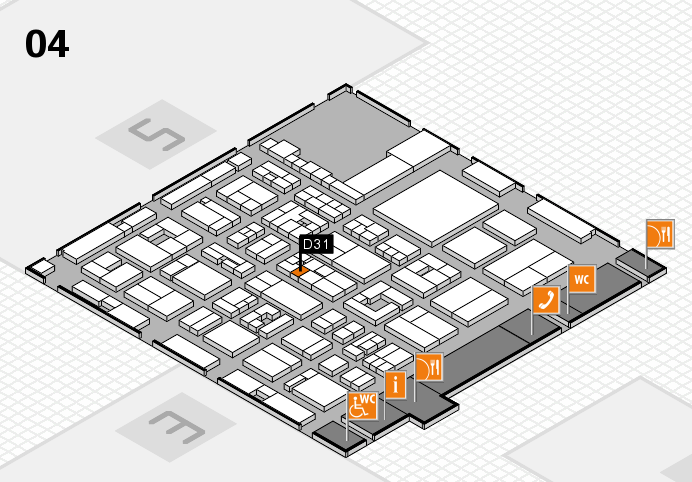 REHACARE 2016 hall map (Hall 4): stand D31