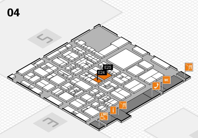 REHACARE 2016 hall map (Hall 4): stand E24, stand E25