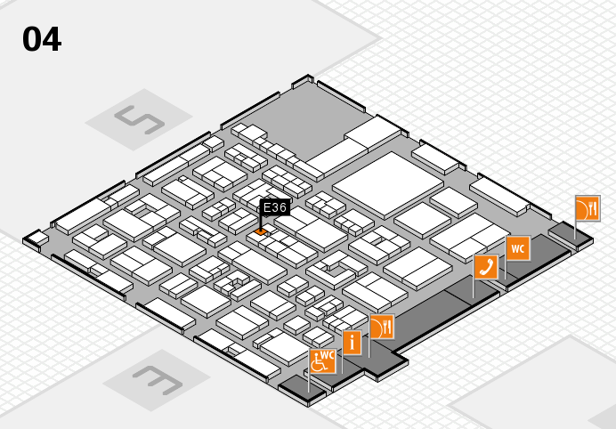 REHACARE 2016 hall map (Hall 4): stand E36