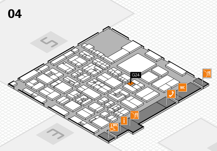 REHACARE 2016 hall map (Hall 4): stand G24