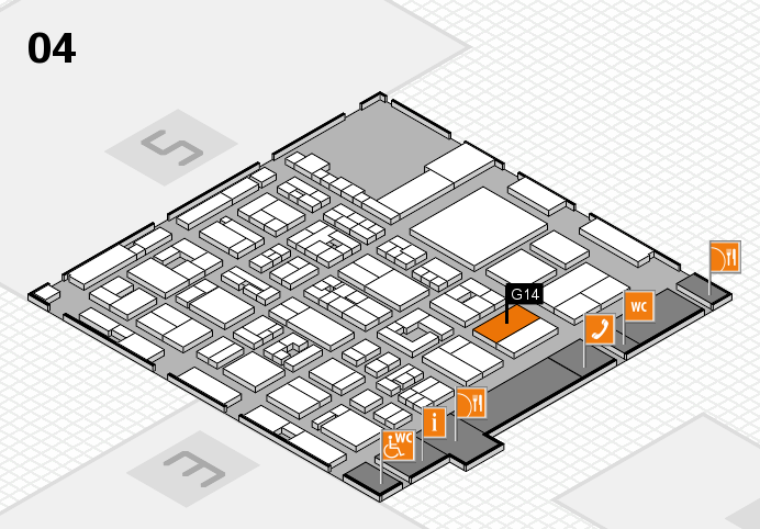 REHACARE 2016 hall map (Hall 4): stand G14