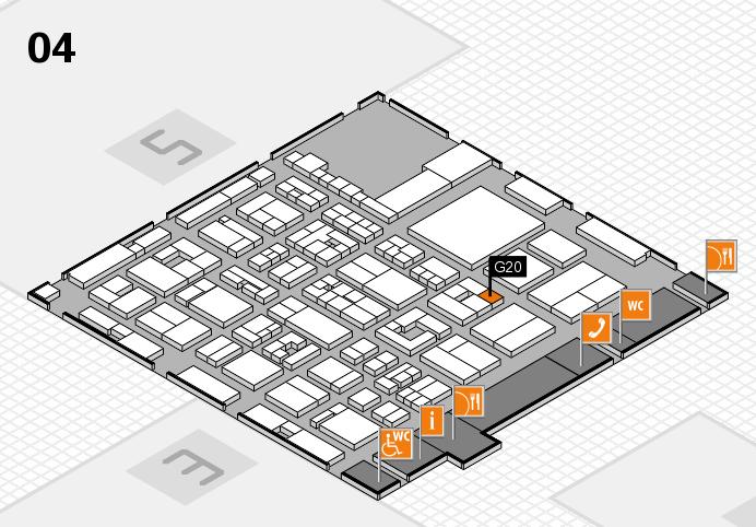 REHACARE 2016 hall map (Hall 4): stand G20