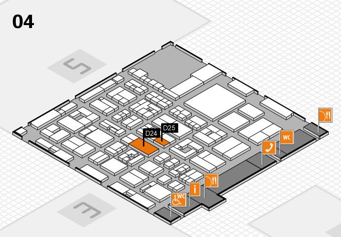 REHACARE 2016 Hallenplan (Halle 4): Stand D24, Stand D25