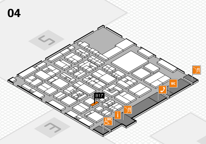 REHACARE 2016 hall map (Hall 4): stand B17