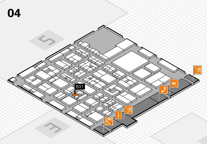 REHACARE 2016 hall map (Hall 4): stand B31