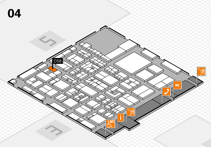 REHACARE 2016 hall map (Hall 4): stand D58