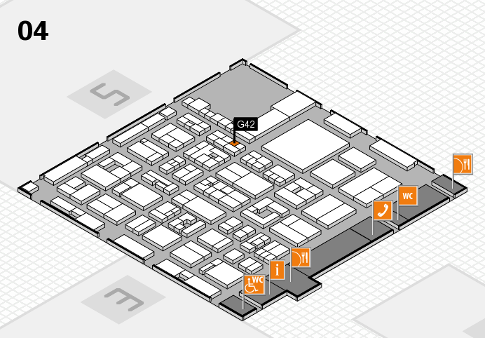 REHACARE 2016 hall map (Hall 4): stand G42