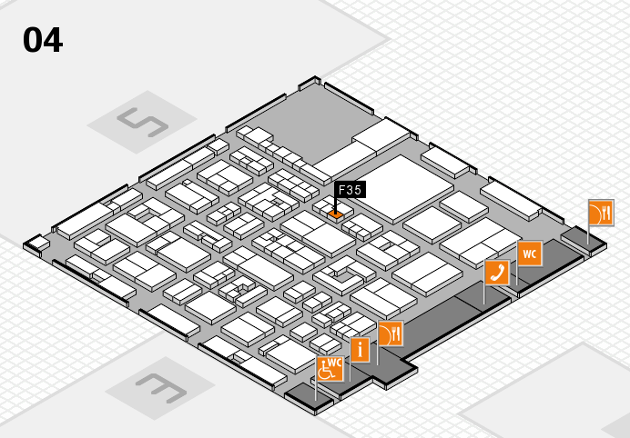 REHACARE 2016 hall map (Hall 4): stand F35