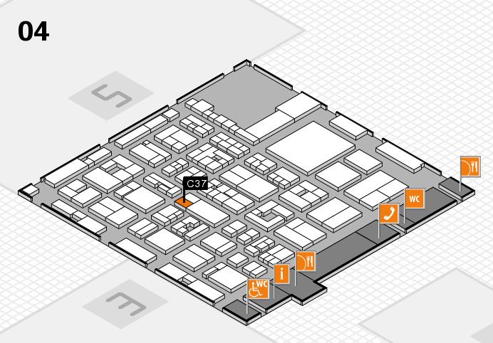 REHACARE 2016 hall map (Hall 4): stand C37