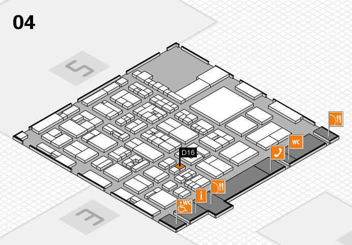 REHACARE 2016 hall map (Hall 4): stand D16