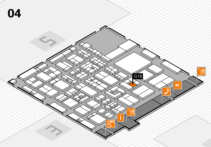 REHACARE 2016 hall map (Hall 4): stand G18