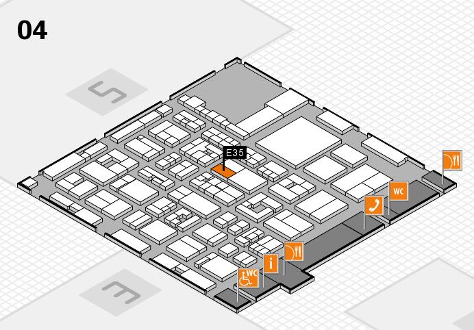 REHACARE 2016 hall map (Hall 4): stand E35