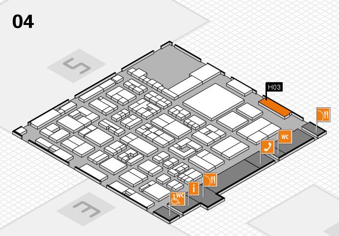 REHACARE 2016 Hallenplan (Halle 4): Stand H03