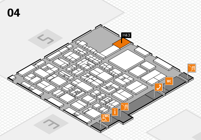 REHACARE 2016 hall map (Hall 4): stand H43