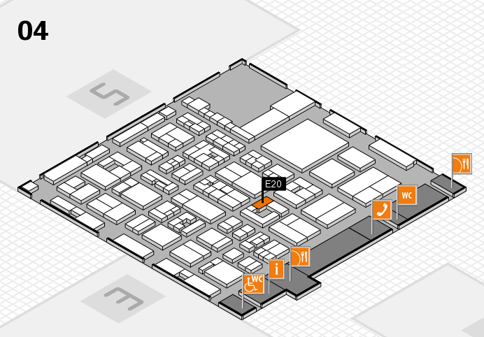 REHACARE 2016 Hallenplan (Halle 4): Stand E20