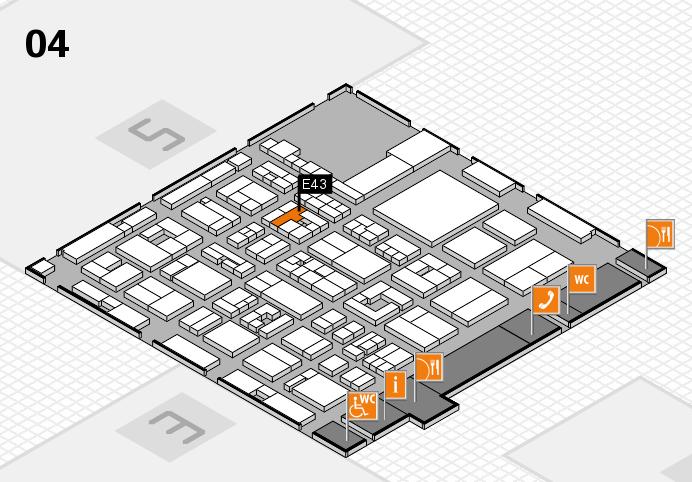REHACARE 2016 Hallenplan (Halle 4): Stand E43