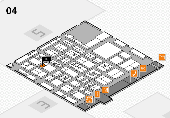 REHACARE 2016 hall map (Hall 4): stand B49