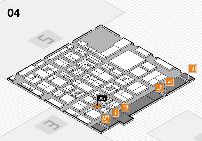 REHACARE 2016 hall map (Hall 4): stand B09