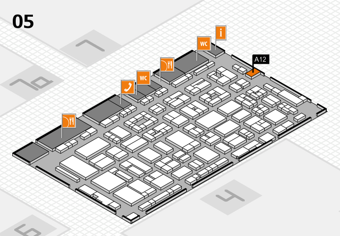 REHACARE 2016 Hallenplan (Halle 5): Stand A12