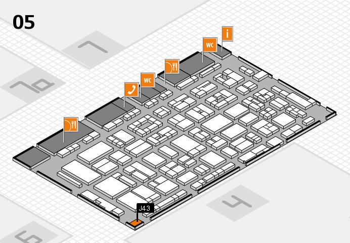REHACARE 2016 hall map (Hall 5): stand J43