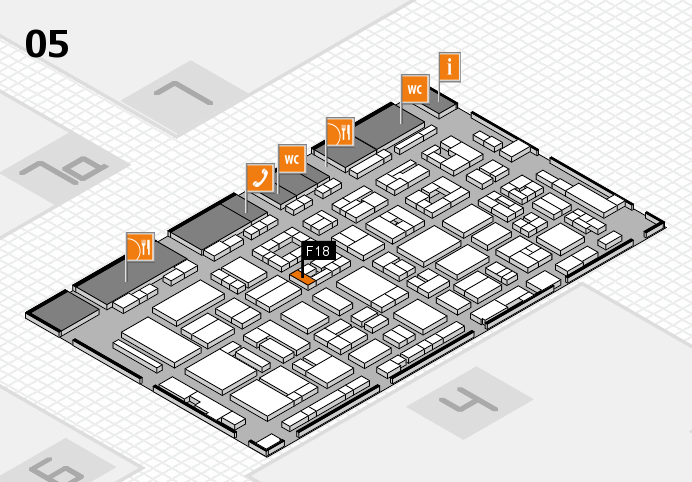 REHACARE 2016 Hallenplan (Halle 5): Stand F18