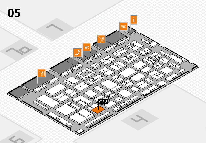 REHACARE 2016 Hallenplan (Halle 5): Stand G33