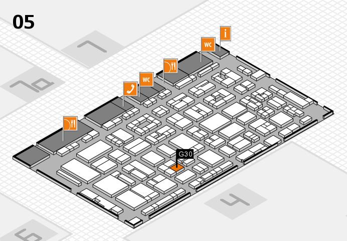 REHACARE 2016 hall map (Hall 5): stand G30