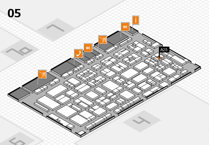 REHACARE 2016 hall map (Hall 5): stand A25