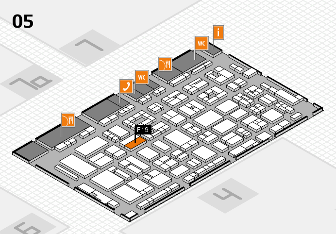 REHACARE 2016 hall map (Hall 5): stand F19