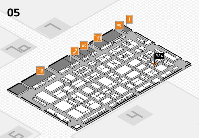 REHACARE 2016 hall map (Hall 5): stand B34