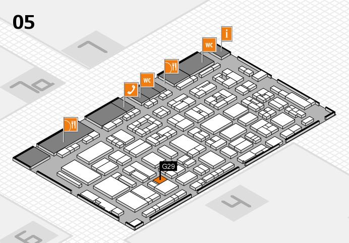 REHACARE 2016 Hallenplan (Halle 5): Stand G29