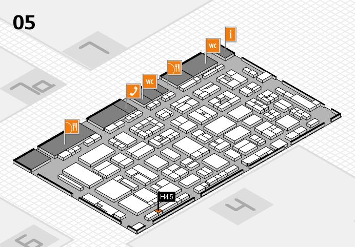 REHACARE 2016 Hallenplan (Halle 5): Stand H45