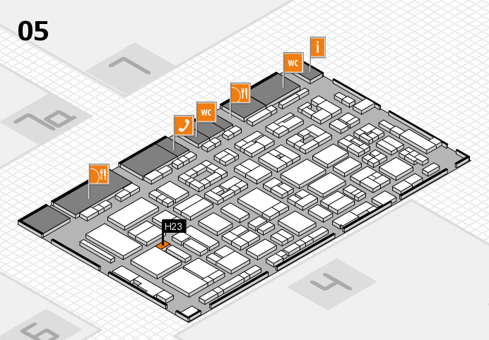REHACARE 2016 hall map (Hall 5): stand H23
