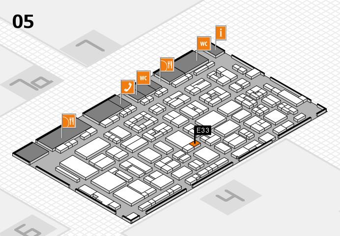 REHACARE 2016 Hallenplan (Halle 5): Stand E33
