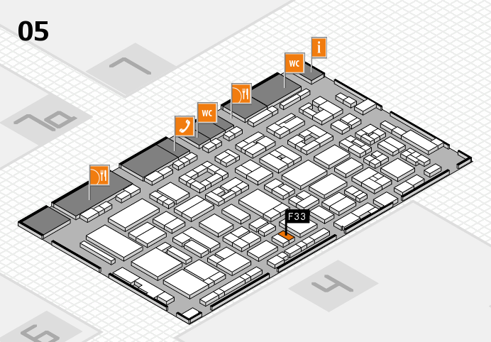 REHACARE 2016 hall map (Hall 5): stand F33