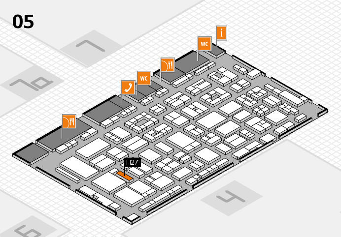 REHACARE 2016 hall map (Hall 5): stand H27