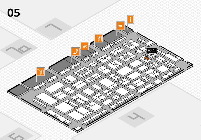 REHACARE 2016 hall map (Hall 5): stand B24